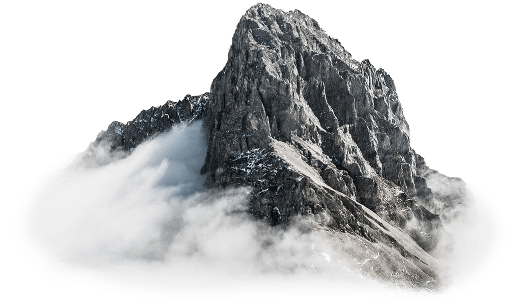 Mountain stands out among background with parallax effects